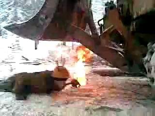 Суровые развлечения русских лесорубов!