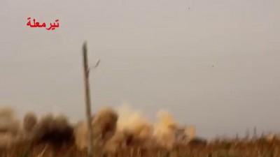 شام ريف حمص تير معلة الطيران الحربي الروسي يشن غارة عنيفة على البلدة 23 10 2015