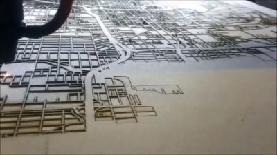 Лазерная резка карты