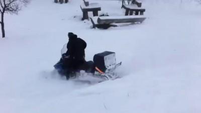 Придавило снегоходом snowmobile hard fail
