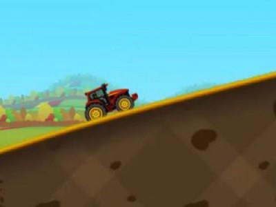 Машинки. Трактор. Мультики про машинки. Гонки на тракторе по лесу. Смотреть мультфильм для детей