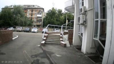 Наезд на пешехода. г. Омск Пересечение улиц Фрунзе и Орджоникидзе