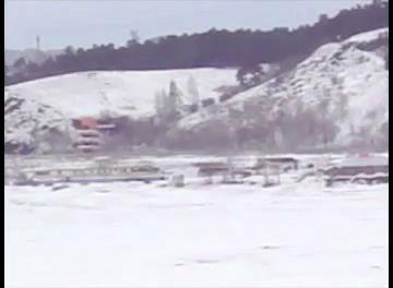Взрыв льда в Кемерово на реке Томь