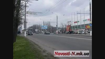 Кортеж Януковича в Николаеве