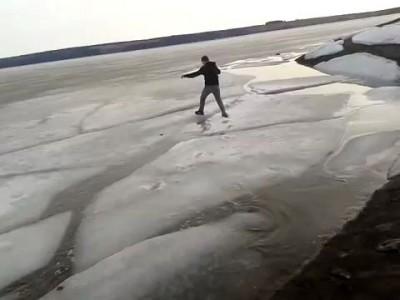 По весеннему льду