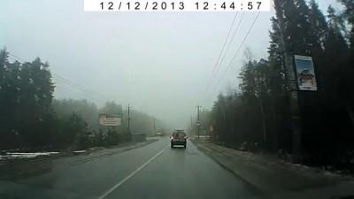 Первая авария девушки 12.12.13г.