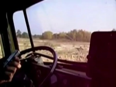 Shooting from the cockpit BM-21 Grad Батарея ГРАД - Огонь