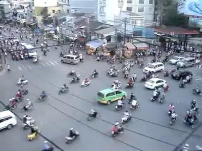 Дорожное движение во Вьетнаме.
