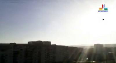 Черная точка на солнце. Снято в Грузии.