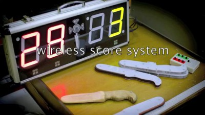 Wireless score system for knife fighting TOLPAR