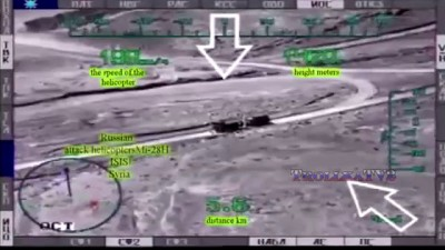 """Russian Mi-28N helicopter """"Night hunter"""" attack missiles to terrorists in Syria"""