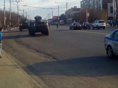 перегон техники для парада победы 04.05.2016 Мурманск.