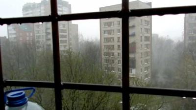 Первая гроза в Питере 29.04.2015