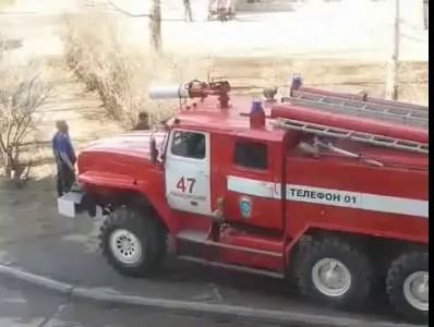 Firefighters Blast Cat Off Tree