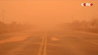 Sandstorm hits north, northwest China