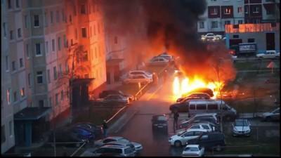 Пожар и взрывы на Чапаева