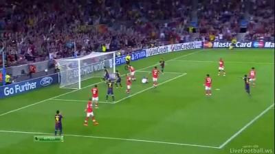 Barcelona vs Spartak 3-2 Goal Lionel Messi