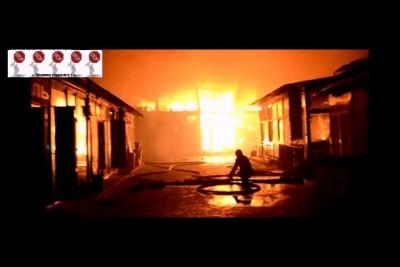 """В Одессе крупный пожар на рынке """"Селянка"""""""
