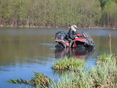 На квадрике по озеру