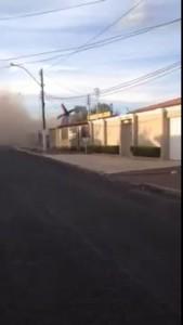 самолет упал на дома