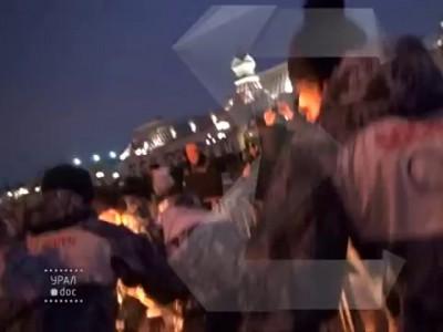 В Екатеринбурге горит факелоносец!