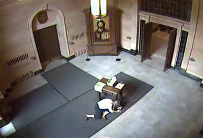 Shocking Video Shows an Elderly Woman Punched and Robbed in CHURCH