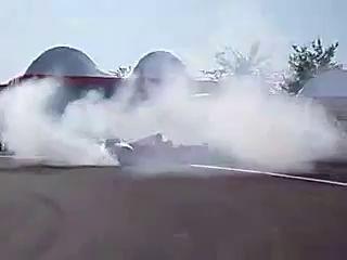 F1 Michael Schumacher drifting