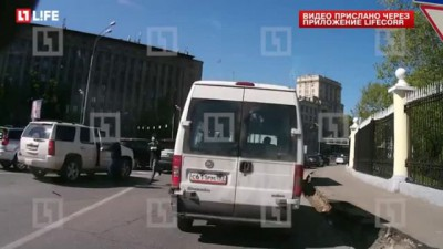 Перестрелка в центре Москвы попала на видео