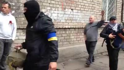 Мариуполь 09.05.14. Первые потери у фашистов/Ukraine, Mariupol