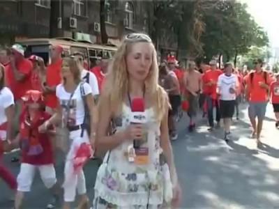 Голландские фаны в Харькове
