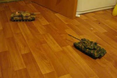 Взаимодействие Абрамса и Т-72Б