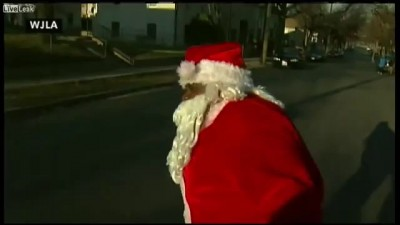 D.C. Santa shot. with a pellet gun