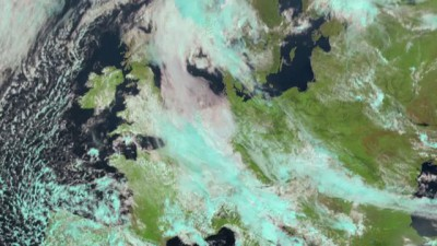 First 2.5 minute rapid scan test from Meteosat-8 - RGB/IR composite