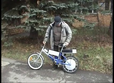Мотор-колесо Шкондина, велосипед