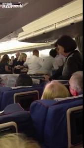 Пьяная драка в самолете.