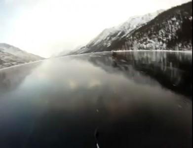 Хоккей на красивейшем замерзшем озере