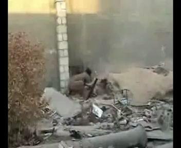 Взрыв самодельного миномета