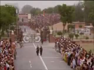 Michael Palin at the India-Pakistan border ceremony - BBC