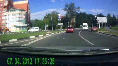 Авария в долгопрудном. ул.Дирижабельная