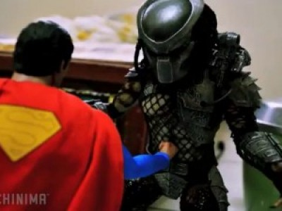 Man of Steel vs Predator (stop motion short)