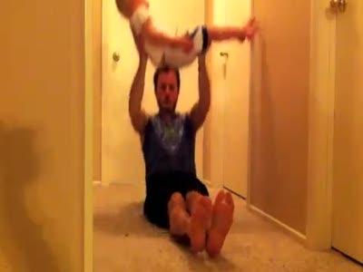Отец и сын - тренажеры