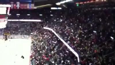 Радость и эмоции фанатов