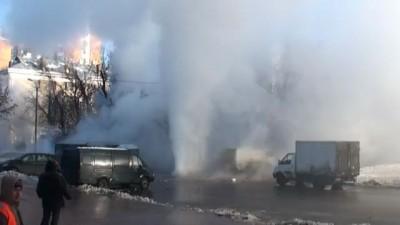 Прорвало магистраль САО Коптево 28.01.12