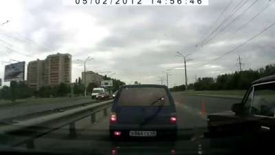Наказал за хамство на дороге