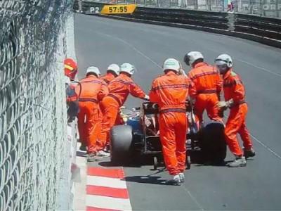 Grosjean Crash P2 GP Monaco 2013