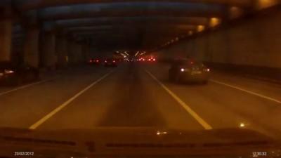 Стритсракеры устроили завал на Ленинградском шоссе