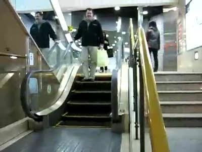 World's Shortest Escalator - certified by the Guinness Book of Records
