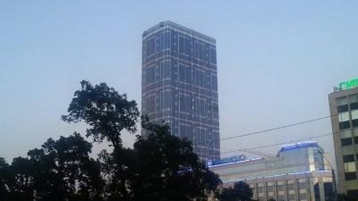 Подсветка здания Leader Tower