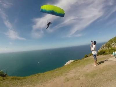 Paraglidermidflight