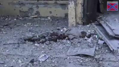 Последствия артобстрела центра Донецка 29.07.2014.